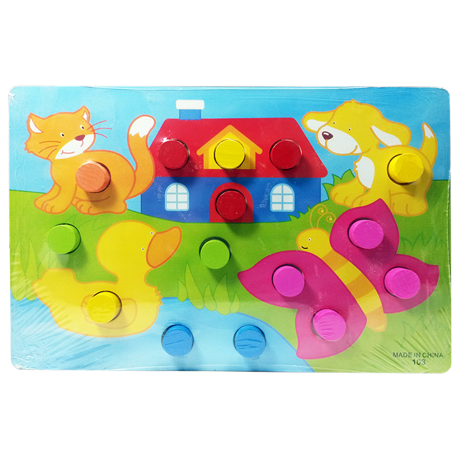 button-board-animal-and-house
