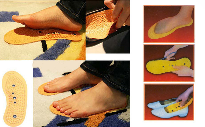 Massage Insoles Shoe Clean Health Foot Magnetic Therapy