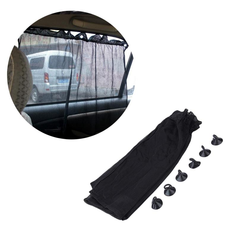 Pack of 4 curtains Black, Car Sun Shade Side Window Curtain