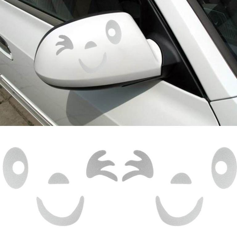 3D Cat Eyes Peeking Car Sticker 2 pc