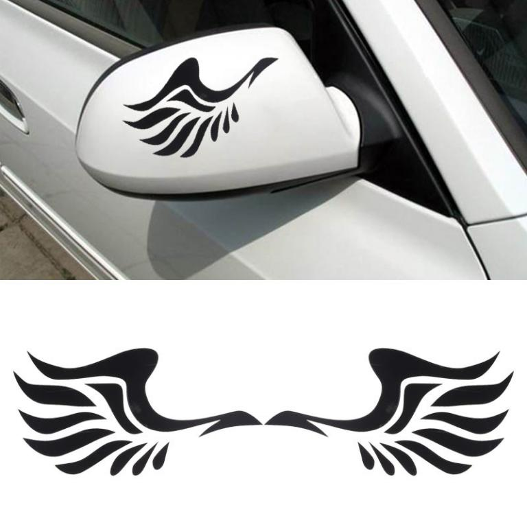 Mirror Pair of Wings Car Styling Stickers