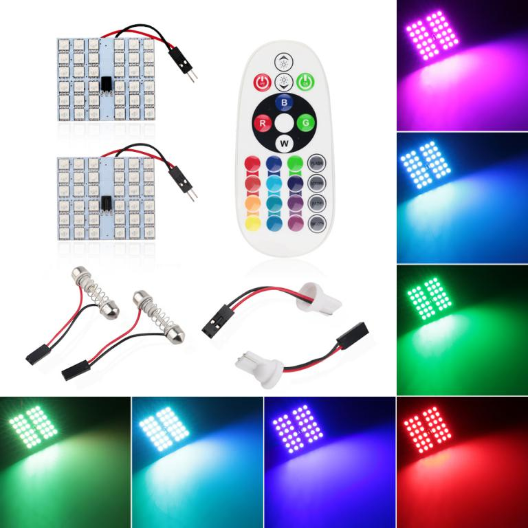 RGB Colorful Wireless Control 24 SMD 5050 LED Light