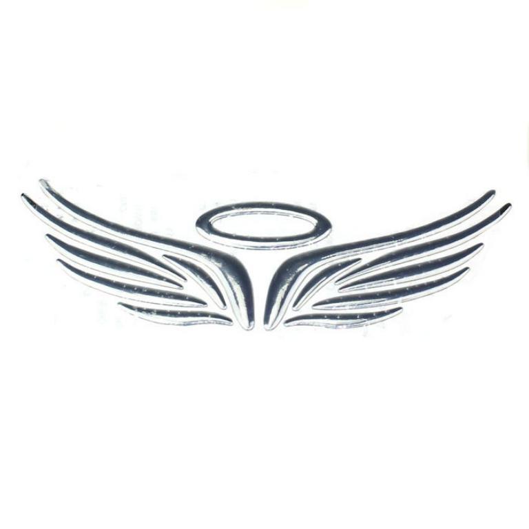 Buy Soft Plastic Wing Car Logo Sliver In Pakistan Laptab