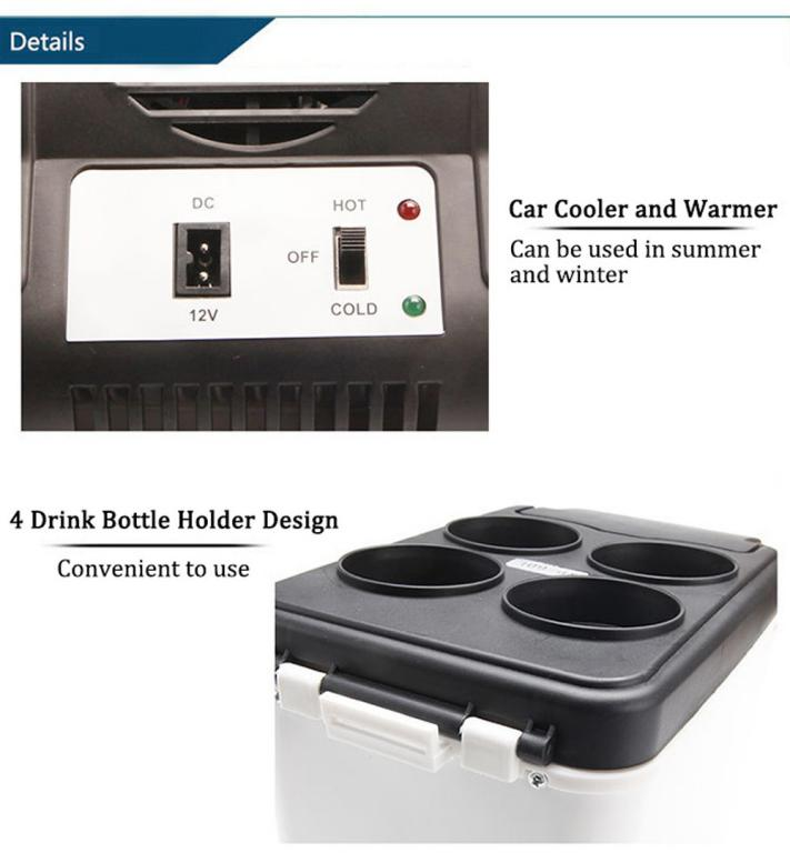 Car Refrigerator Hot and Cold Truck Electric Fridge