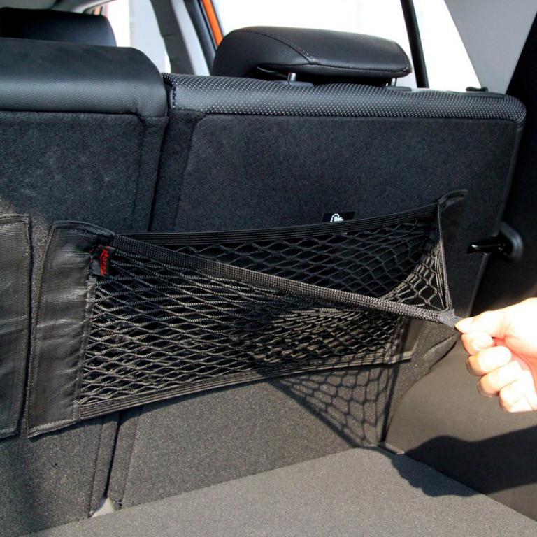 Rear Trunk Back Seat Elastic String Net Mesh Storage Bag