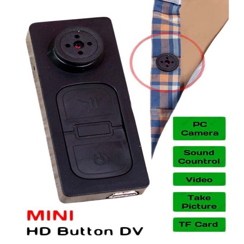 Shirt Button Camera With Mic