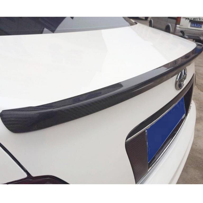 Carbon Fiber Soft Tail Spoiler Car Rear Roof Trunk Wing Lip