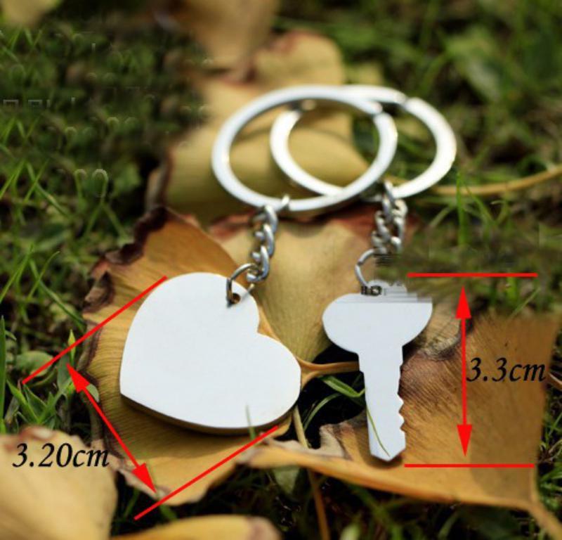 I LOVE YOU Letter Key chain Heart Key Ring