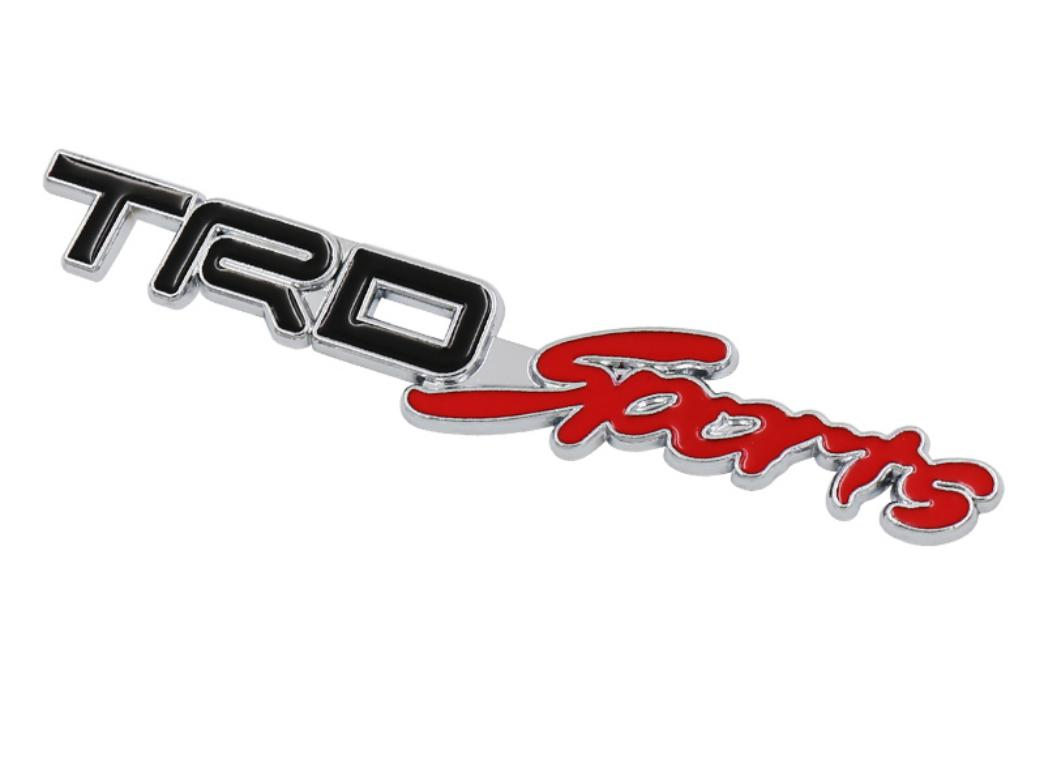 3D Metal TRD Sports Car Logo