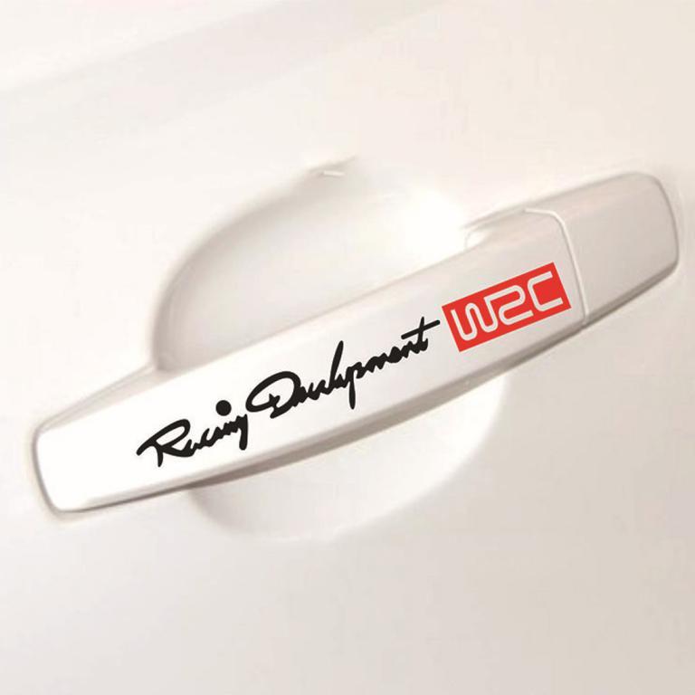 4pcs/set WRC Racing Door Handle Stickers ATS-0191
