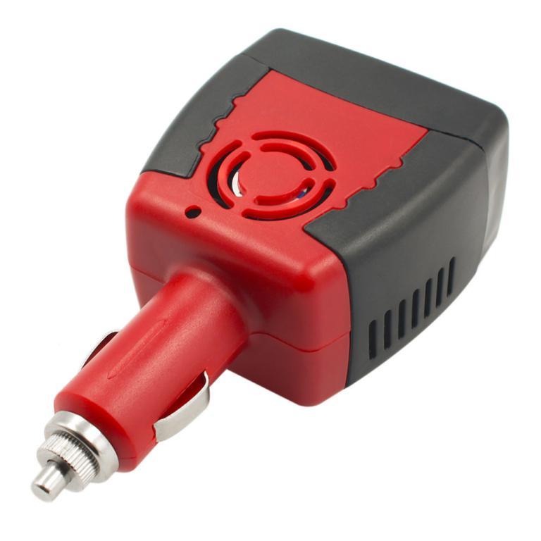 Car inverter DC 12V to AC 220V-75W Power Inverter Adapter