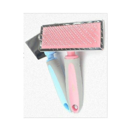 Brush Grooming Slicker for Cat & Dog  Large-pink