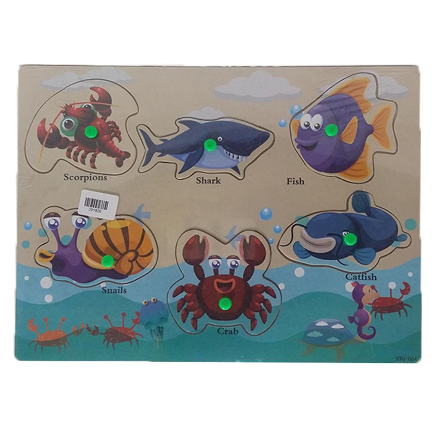 Wood Board - Large - Sea Animals