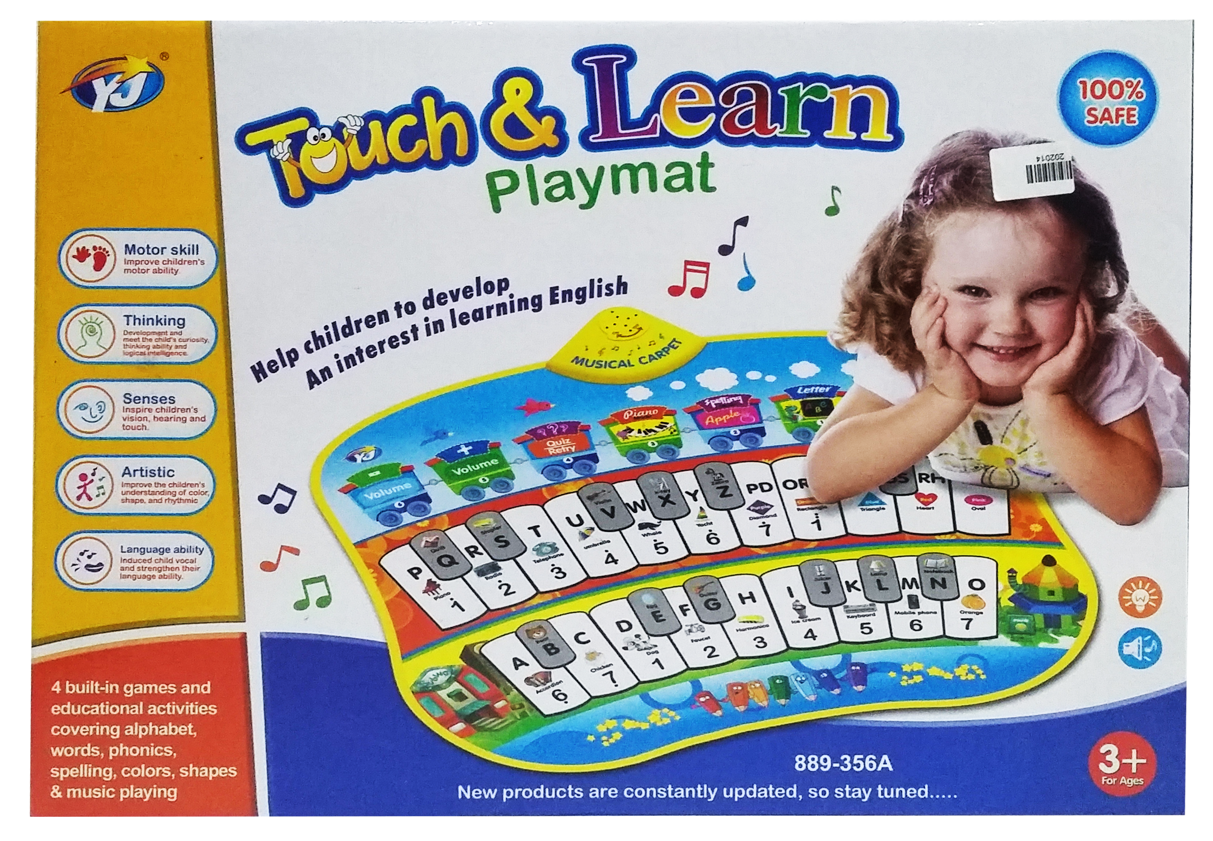 Touch & learn Play mat - 889-356A