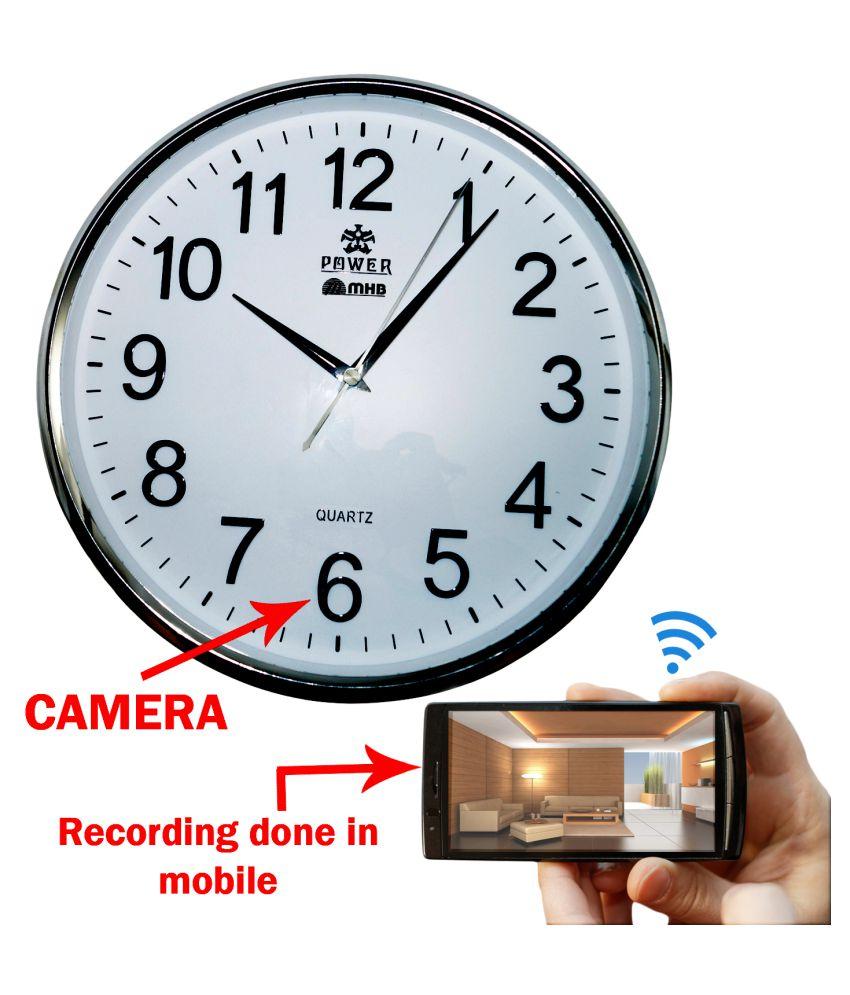 Wifi Spy Wall clock Wireless Hidden Video Recording Camera