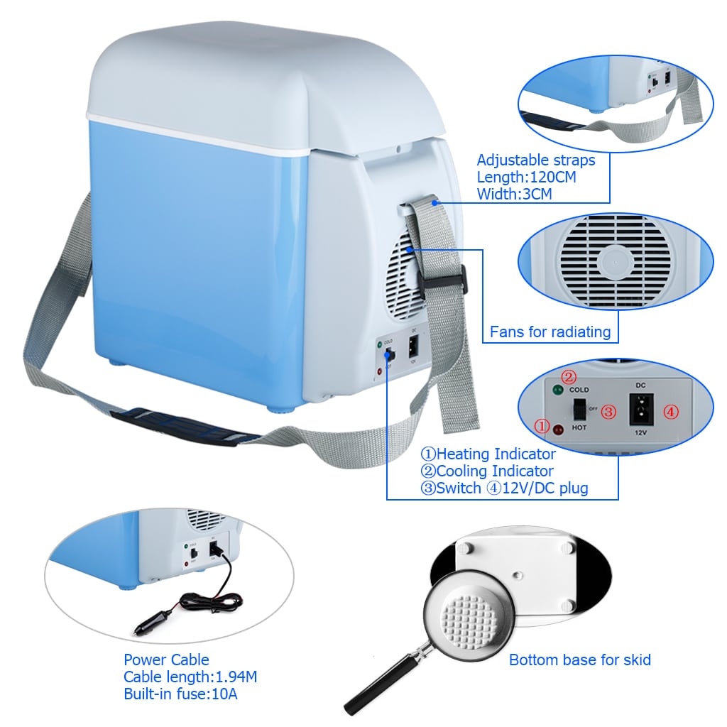 Portable Electronic 7.5 L Cooling & Warming Refrigerator