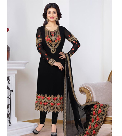 embroidered-chiffon-black-suit