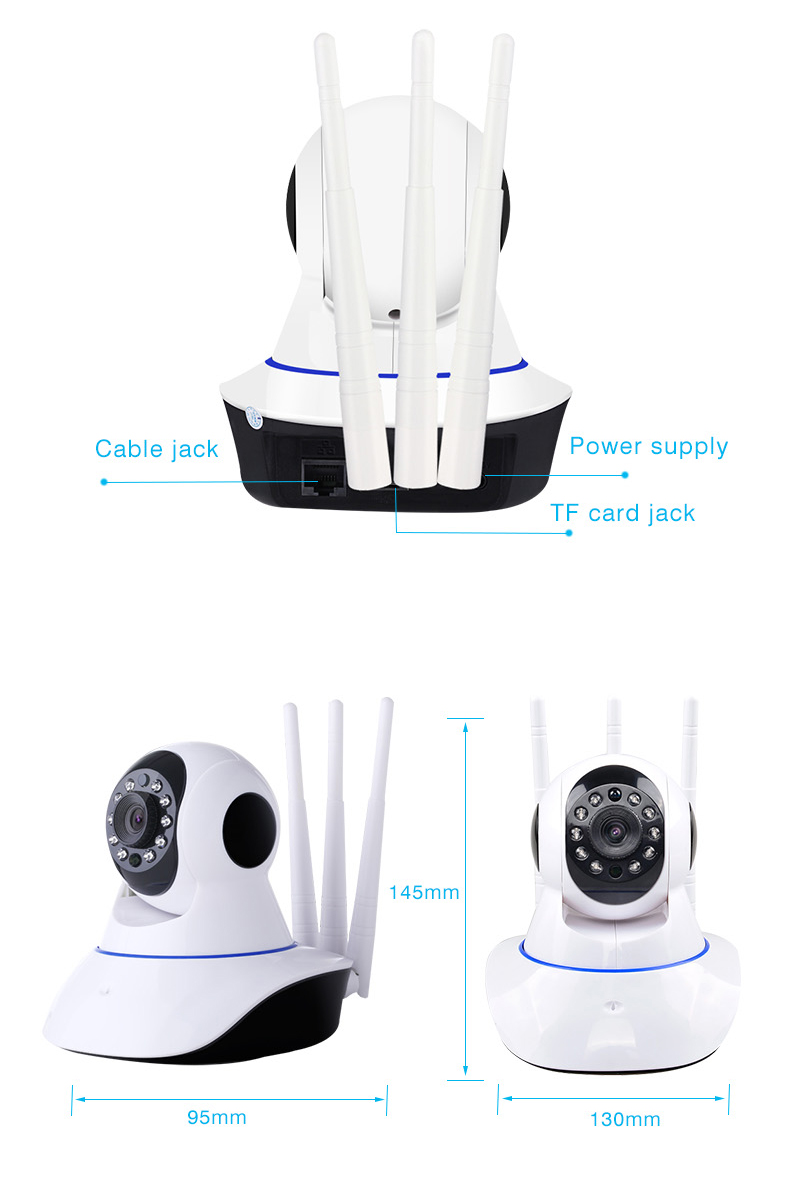 Three antennas wifi Security camera