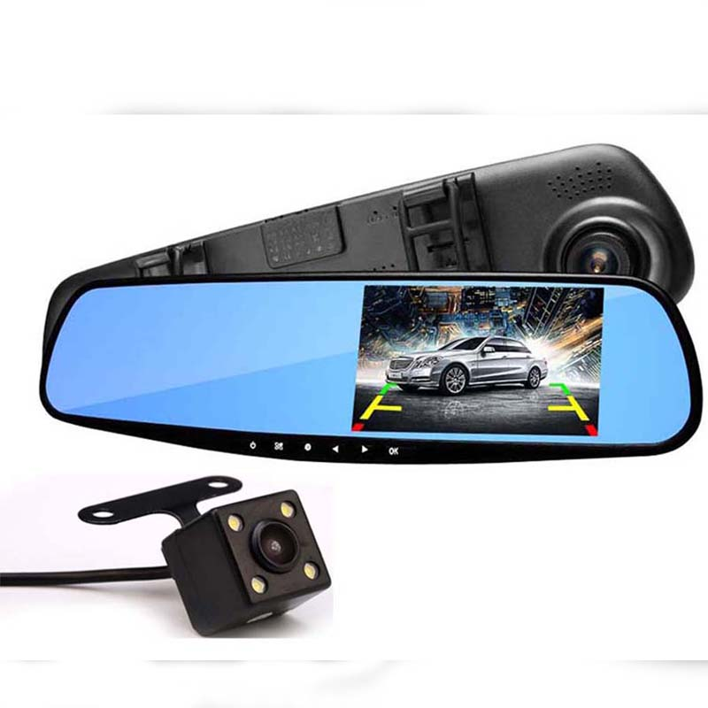 Buy Car DVR Mirror 7 Inch LCD Touch Screen Front And Back Camera 1080p in Pakistan | Laptab