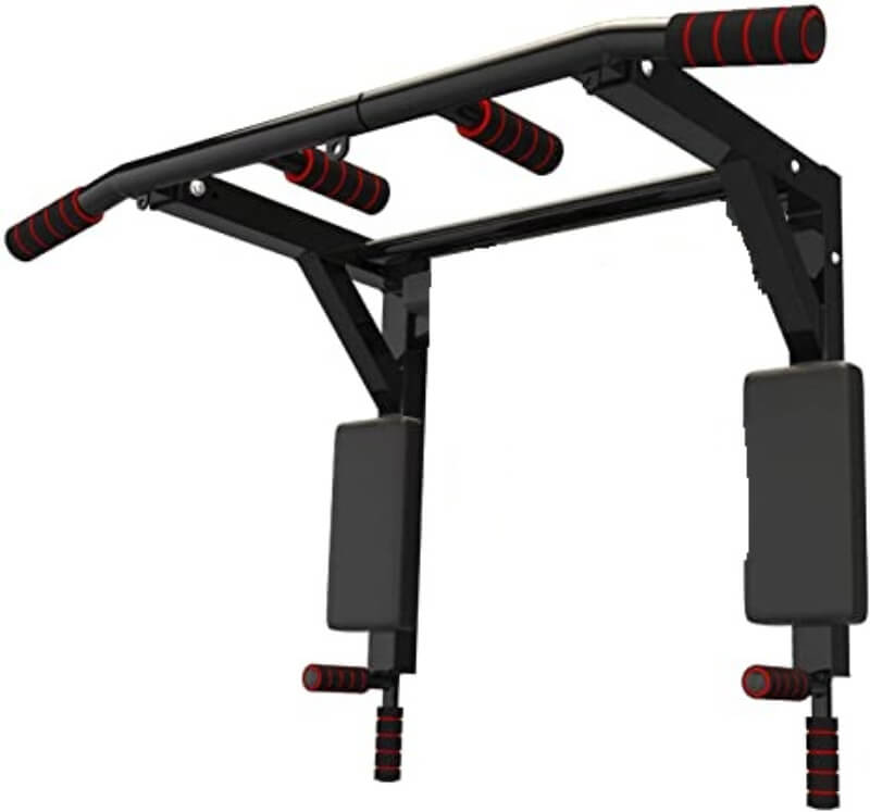 Portable Wall Mounted Pull Up Bar - Chin Up Bar With Dip Bar