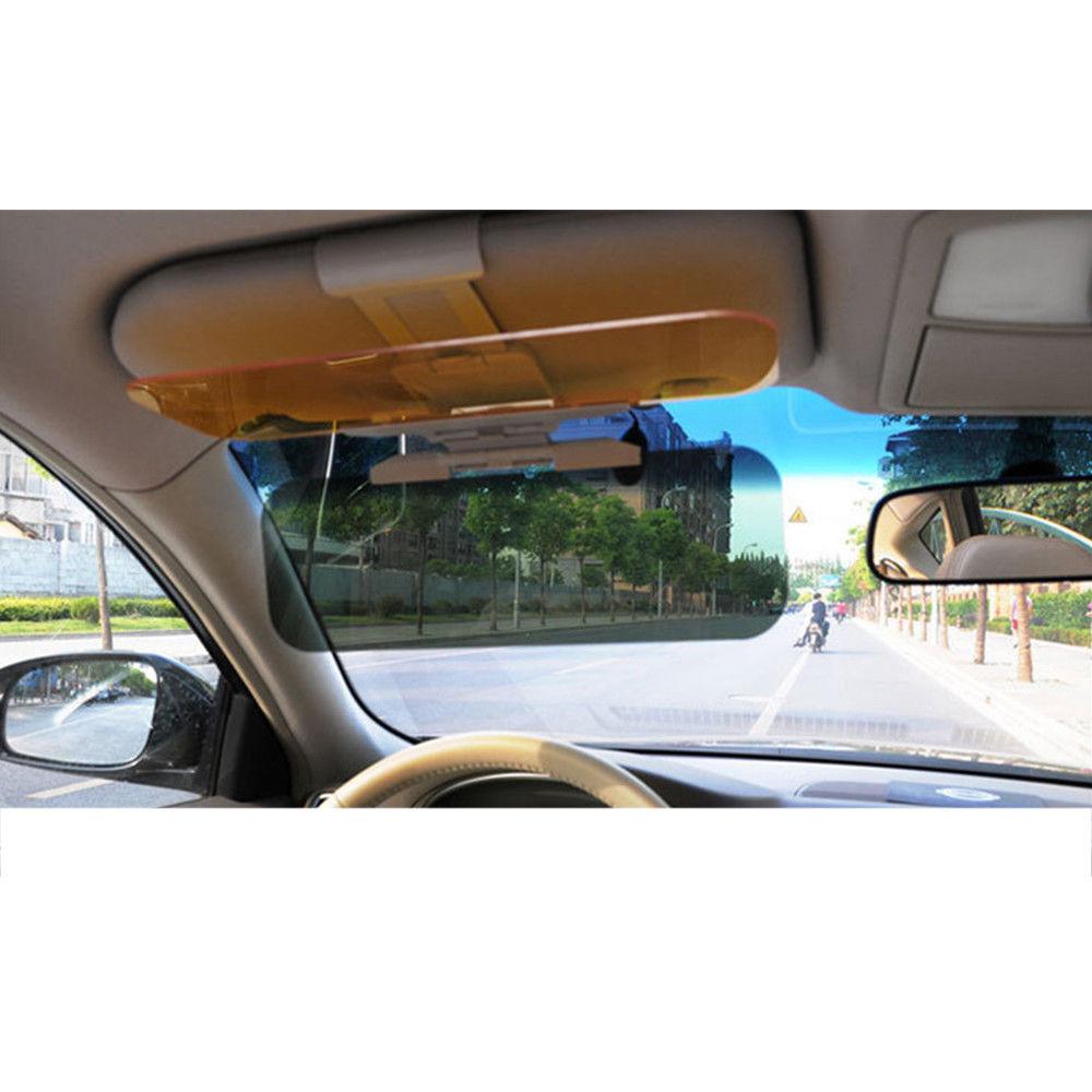 2 in 1 Car Anti-Glare Mirror Sun Visor Mirror Day and Night