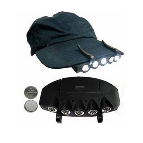 5 LED Cap headlight Hat Headlamp Camping Hiking traveling