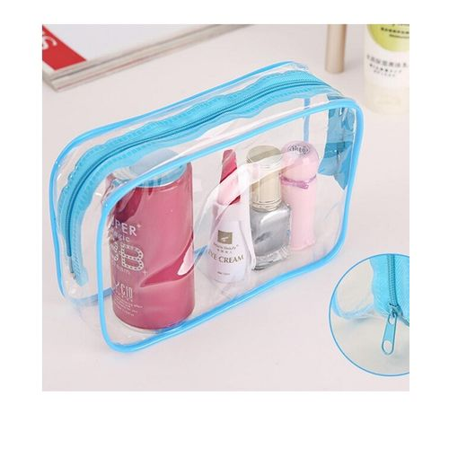 Travel-Makeup-Cosmetic-Bag-Toiletry-Zip-Pouch-Blue