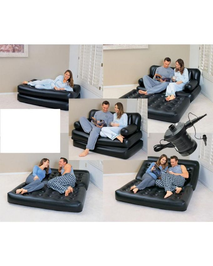 Comfort Quest Inflatable Sofa Come Air Mattress