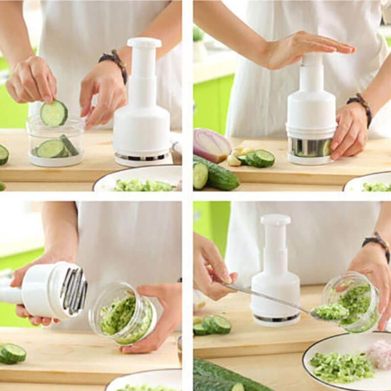Onion Slicer - Chopper - White