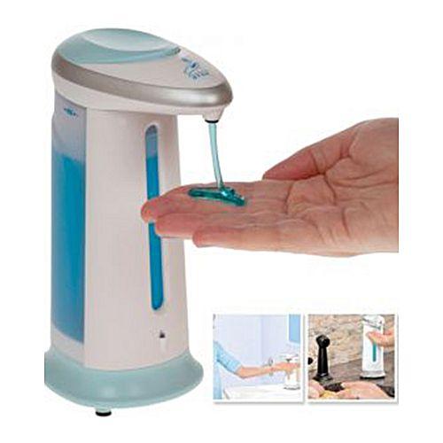 Magic Soap Hand wash - Sanitizer Dispenser - White - Blue