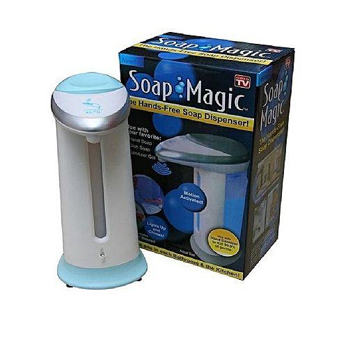 Magic-Soap-Hand-wash-Sanitizer-Dispenser-White-Blue