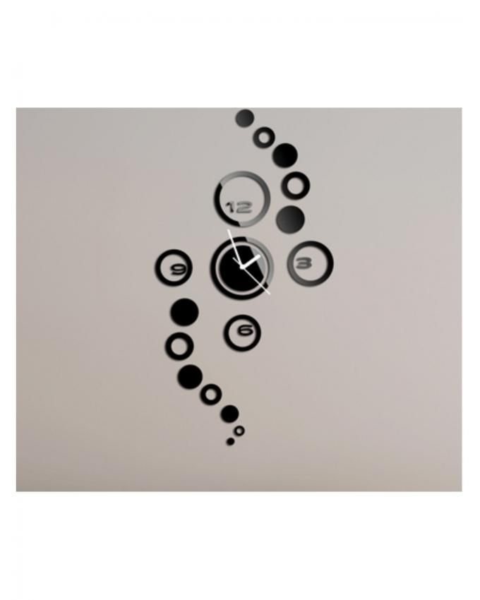 Modern Design Luxury Mirror Wall Clock - Black