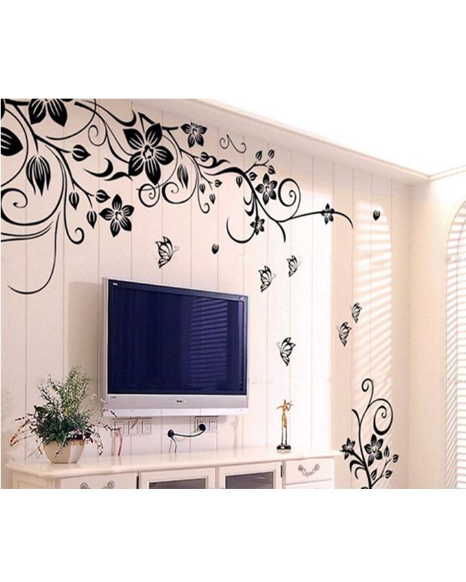 buy removable vinyl pegatinas de pared wall sticker - black in