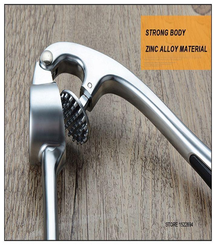 Metal Garlic Press - Silver