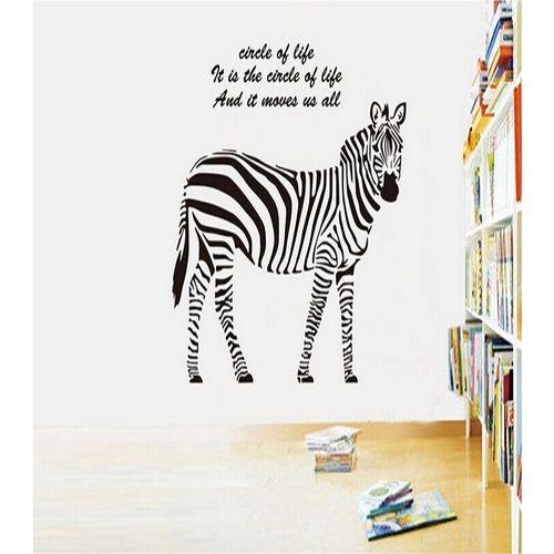 Zebra-Animal-Wall-Sticker-Black