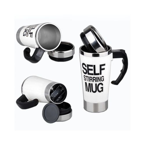 Self Stirring Mug - White