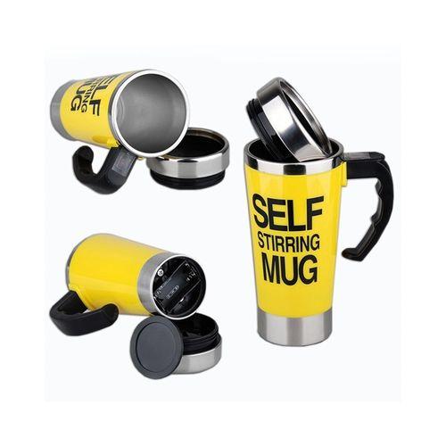 Self Stirring Mug - Yellow