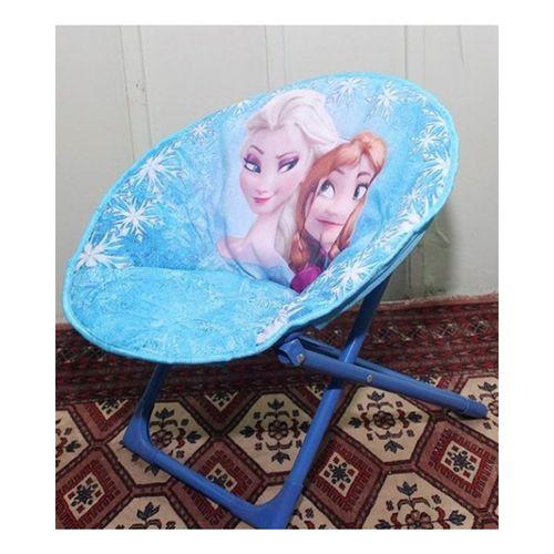 Frozen Foldable Saucer Chair - Blue