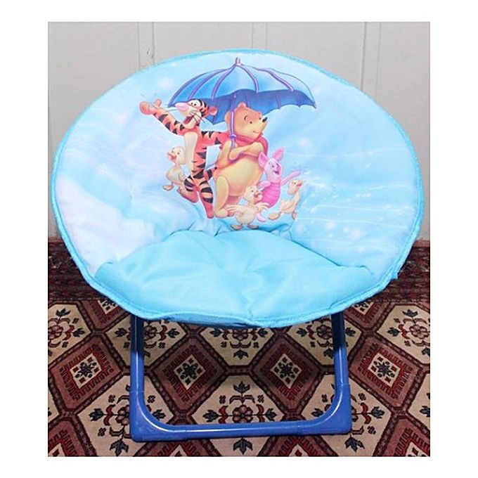 Disney Pooh & Tiger  Foldable Saucer Chair For Kids - Blue