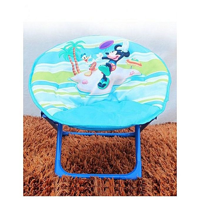 Mickey--Donald-Foldable-Saucer-Chair-Blue