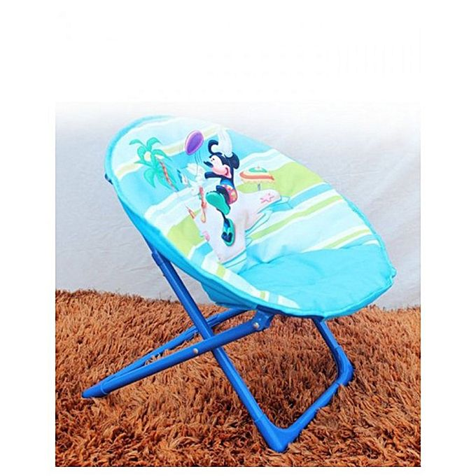 Disney Mickey & Donald Foldable Saucer Chair For Kids - Blue