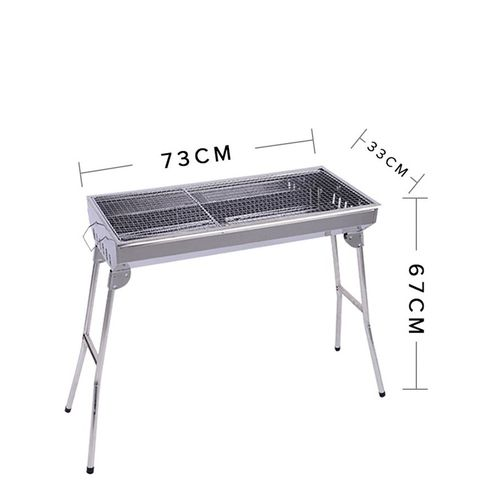 Portable-Stainless-Steel-Charcoal-Bbq-Grill-With-Stand-Silver