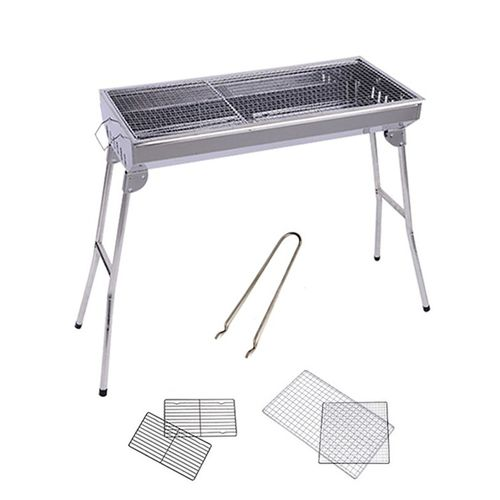Stainless Steel Charcoal Bbq Grill With Stand