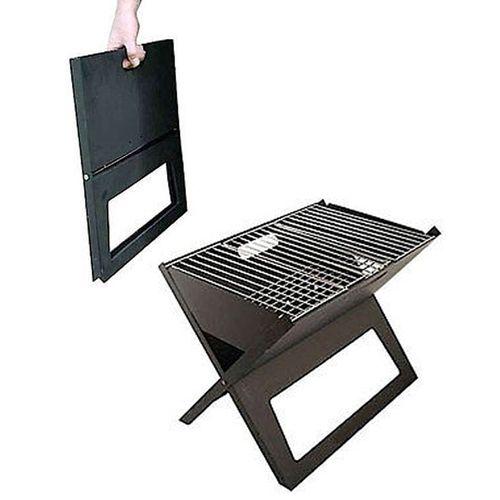Folding Portable BBQ Grill - Black