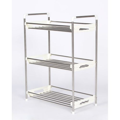 Compact Multi-Purpose Storage Rack - Silver