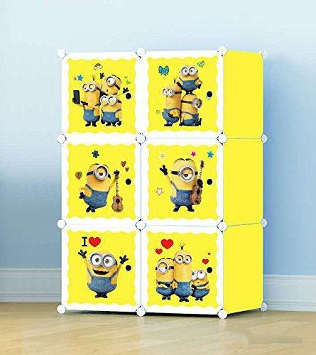 Cute-Minion-Wardrobe-Organizer-Rack-For-Kids-6-Cubes