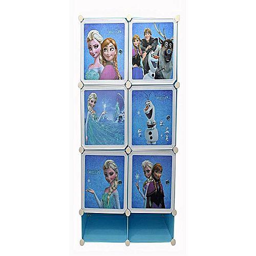 Frozen Wardrobe Organizer Rack For Kids - 6 Cubes