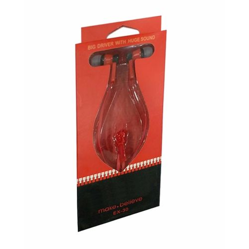 Zipper Style Handsfree - Red