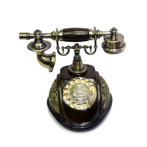 Classical-Telephone-Set-Antique-Chinese-Resin-Telephone-Swivel-D