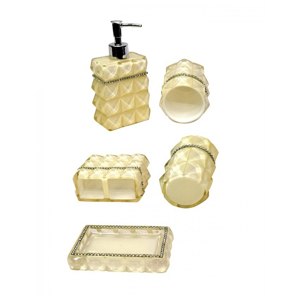 Bathroom Accessories Set Acrylic Material 5 Pieces